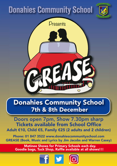 Donahies-Grease-A5-Flyer